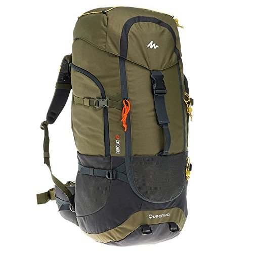 QUECHUA FORCLAZ 70L HIKING RUCKSACK - KHAKI  available at amazon for Rs.4425
