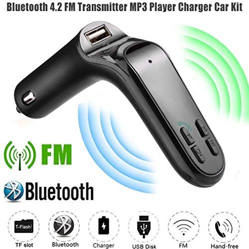 HARRYSTORE G7 Auto FM Sender Bluetooth Hände frei LCD MP3 Spieler Radio Adapter Bausatz Ladegerät (Schwarz)