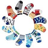 ZOEREA Lot de 12 paires Chaussettes bébé Chaussons bébé Pantoufles Chaussons antidérapant pour enfants et bébés
