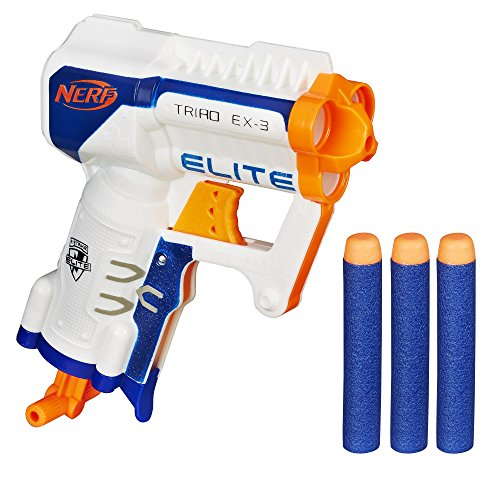 Nerf Core- Ex-3 Elite Triad, Color Azul, Naranja, Blanco (Hasbro A1690EU4)