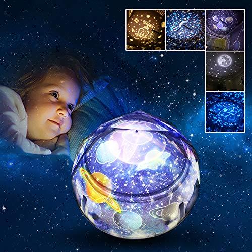 Regali per Bambini 3-10 Anni Joy-Jam Luce Notturna LED Proiettore Stelle per Bambini Lampada Notturna Cameretta Bambina Regali di Compleanno Natale