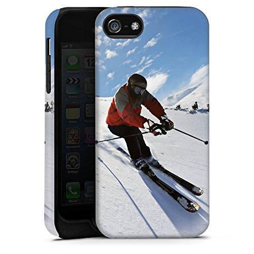 Apple iPhone 6 Housse Étui Silicone Coque Protection Ski Neige Soleil Cas Tough terne