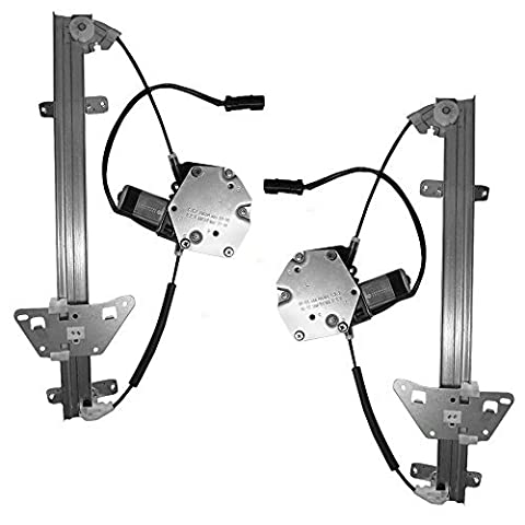 Driver and Passenger Rear Power Window Lift Regulators & Motors Assemblies Replacement for Dodge Durango Dakota 55256495AF 55256494AF by AUTOANDART