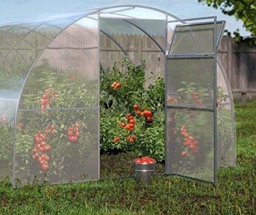 Polycarbonat Gewächshaus All Season Bioprodukte Garten Gartenarbeit Anbau Gemüse Pflanzen Blumen...