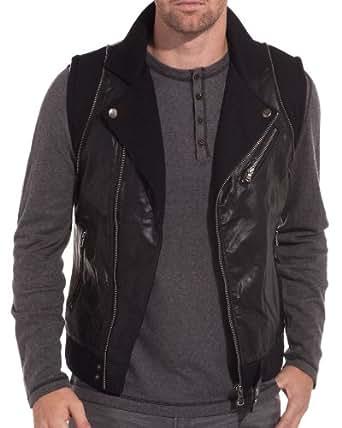 Sixth June - Veste sans manches simili cuir - Couleur : Noir Taille : XL