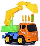 #4: Toys Bhoomi 2-in-1 Friction Powered Take-A-Part Construction Excavator Vehicle Truck Playset