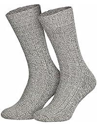 6 Paar warme Wintersocken / Schafwolle / Herren weich + warm