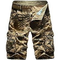 TAOtTAO Beiläufige Reine Farbe der Männer im Freien Taschen-Strand-Arbeits-Hosen-Fracht-Kurzschluss-Hose