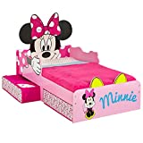 Worlds Apart (Wap) Hellohome Minnie Mouse Toddler Bed Minnie: Lettino Con Cassettoni, Mdf, Rosa, 87X77X143 Cm