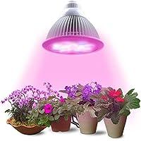 Lampadina LED Pianta Lampadina di Lumin Tekco, 12W E27(3 LED blu & 9 LED rossa) Lampada idroponica per dell'interno fiore del giardino piante crescita serra di verdure - Luminoso Perline Blu
