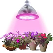 LED Plant Grow Light Bulb by Lumin Tekco, 24W E27(3 Blue LED & 9 Red LED) Hydroponic Lamp for Indoor Garden Flower Plants Growth Vegetable Greenhouse