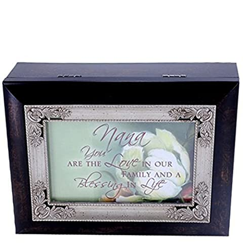 Nana You are Loved Italian Style Music Musical Jewelry Box by Cottage Garden