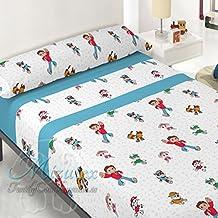 Juego de sábanas pirineo económica similar a patrulla canina para cama de 90. Sábanas de invierno Mizutex