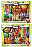 40 TLG Lebensmittel Set für Spielküche schneidbar Pizza Hamburger UVM