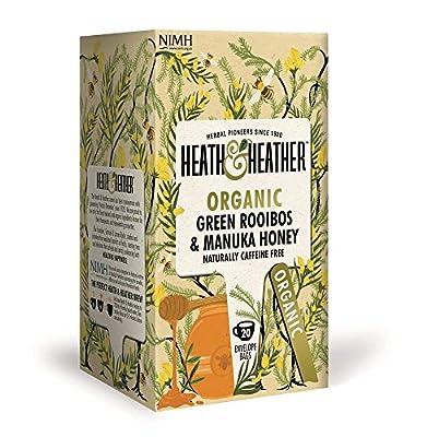 HEATH & HEATHER - Infusion de Rooibos Bio Vert et Miel de Manuka - Naturellement sans Caféine - 20 filtres