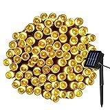 Yasolote 12M 100 LED Stringa Luci Decorazione Catene Luminose Luci di Natale Addobi Natalizi per Albero di Natale Giardino Terrazza (Bianco Caldo)