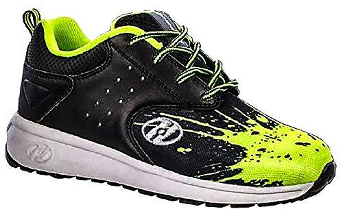 Heelys Kids Velocity Sneaker Black/Bright Yellow/Splatter