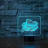 weiaikeke Veicolo Spaziale Creativo Comodino per Illuminazione Notturna Taccuino Computador Illuminazione One Batterie per Bambini Luci Lampade Illuminazione per Bambini