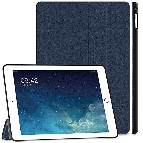 EasyAcc iPad Air 2 Hülle, Ultra Slim Cover Schutzhülle Bumper Lederhülle mit Standfunktion/Auto Sleep Wake Up Funktion für iPad Air 2 2014 Modell Number A1566/A1567 - Dunkelblau, Ultra Slim