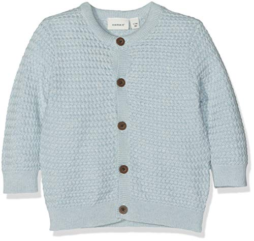 NAME IT Baby-Jungen NBMDANT LS KNIT CARD Strickjacke, Blau (Skyway), (Herstellergröße: 62)