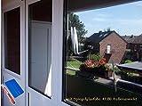 7,89€/m² Spiegelfolie Fensterfolie Außen Montage für doppe-dreifach Verglasung Dachfenster (100x61cm)