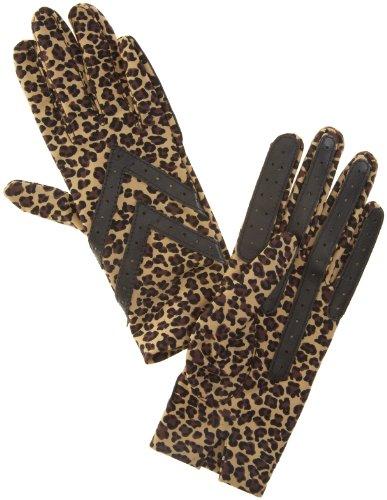 isotoner-womens-original-spandex-animal-print-gloves-brown-leo-one-size