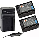 DSTE 2x BT-S7 Battery + DC140 Travel and Car Charger Adapter for Aigo S7 BenQ M33 Rich A210 Oucca A12 Camera as F-O-000914-WM