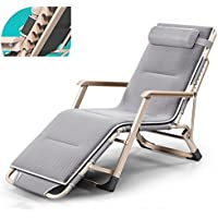 ZHIRONG Folding Lounge Chair, Portable Garden Lounge Chairs, Office Siesta Chair, Summer Beach Chairs, Sun Loungers, Removable Mat (Size : B)