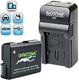 Baxxtar RAZER 600 II Ladegerät 5 in 1 + 1x Patona PREMIUM Akku für Nikon EN-EL14a EN-EL14 (echte 1050mAh) -- NEUHEIT mit Micro-USB Eingang und USB-Ausgang, zum gleichzeitigen Laden eines Drittgerätes (GoPro, iPhone, Tablet, Smartphone..usw.)