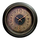 Wall Décor Brown Round 45Cm Wall Cloc...