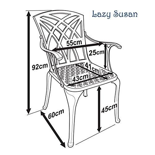 Lazy Susan - Gartenmöbel Set Ovaler Gartentisch mit 6 Stühlen ...
