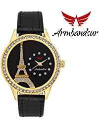 Armbandsur eiffel tower black dial watch-ABS0038GBG
