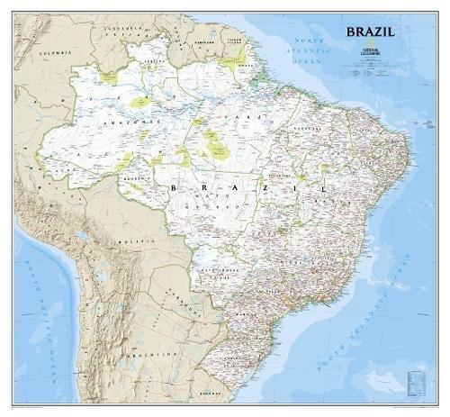 Brasilien Classic, laminiert: NATIONAL GEOGRAPHIC Länder & Regionen