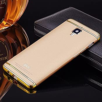 Audos 3-in-1 Shockproof Dual Layer Thin Back Cover Case For One Plus 3 & OnePlus 3T (Champagne Gold with Gold)