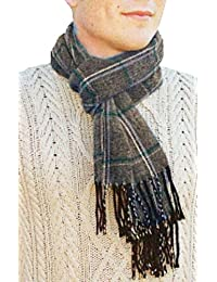 Unisex Mens Ladies Adult Long Plaid Style Check Knitted Warm Winter Scarf