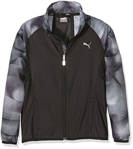 Puma Active Dry Train Windbreaker Giacca Sportiva - Nero (Nero/Aop) - M