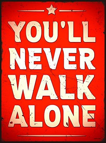 Preisvergleich Produktbild Blechschild 35x26cm You´ll never walk alone