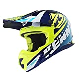 Kenny Track Casque cross 2018 - Cyan Jaune fluo, Neon Yellow, Cyan