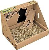 CATLOO - Bio-Einweg-Katzentoilette Größe M - 50x35x35 cm (LxBxH) inkl. 2x2,2 kg Einstreu, Ausführung:ohne Höhle