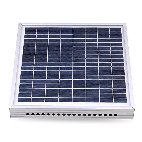 Decdeal Solar Lüfter Solarventilator zur Dachmontage für Gewächshaus Hühnerstall
