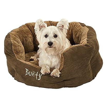 Bunty Polar Dog Pet Bed, Soft Cosy Fleece Fur Warm Cushion Basket, Machine Washable, High Sided, Cat, Small Animal… 4