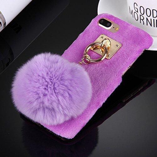 iPhone Case Cover Housse de protection pour iPhone 7 Plus ( Color : Grey ) Purple