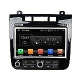 Android 8.0 Octa Core DVD de voiture Navigation GPS lecteur multimédia stéréo de voiture pour Volkswagen Touareg 2010 2011 2012 2013 2014 2015 2016 Autoradio Commande au volant avec WiFi Bluetooth SD