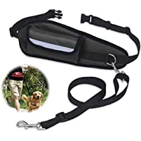 Hands Free Dog Lead Running, PETBABA 64-120cm/2-4FT Long Pocket Reflective Nylon Training Lead for Dogs