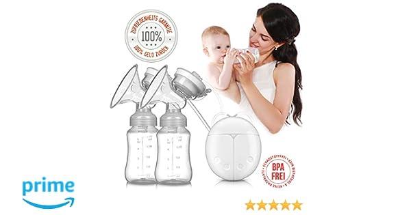 Handlich 2x Handmilchpumpe Elektrische Milchpumpe in Premiumqualit/ät von Tillmann/´s Deutschland Brustpumpe f/ür Neugeborene Aufladbar mit USB