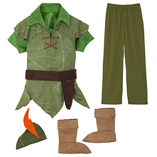 Disney Peter Pan Costume Authentic [ 2 , 3 ] [ 4 ] [ 5 , 6 ] [ 7 , 8 ] [ 10 ] (XS 4 Extra Small) by Disney Interactive Studios