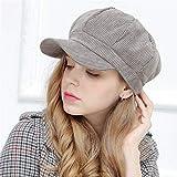 SEBAS Home Freundin Freund Urlaub Geschenke Weibliche Winter Hut Beret Frauen süße Damen Mode Hut Mütze Dame Maler einstellbare Kordkappe Schirmmütze achteckige Mütze, blau grau bla