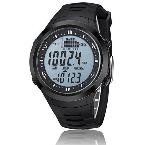 oolifeng Herren Armbanduhr Wandern Outdoor Sports Digitale Armbanduhr mit EL Hintergrundbeleuchtung/Höhenmesser/Thermometer/Barometer/Stoppuhr/5ATM wasserdicht, 001