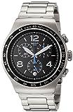 Swatch Herren Chronograph Quarz Uhr mit Edelstahl Armband YOS456G