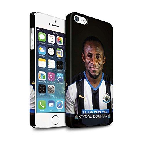 Officiel Newcastle United FC Coque / Clipser Matte Etui pour Apple iPhone SE / Pack 25pcs Design / NUFC Joueur Football 15/16 Collection Doumbia